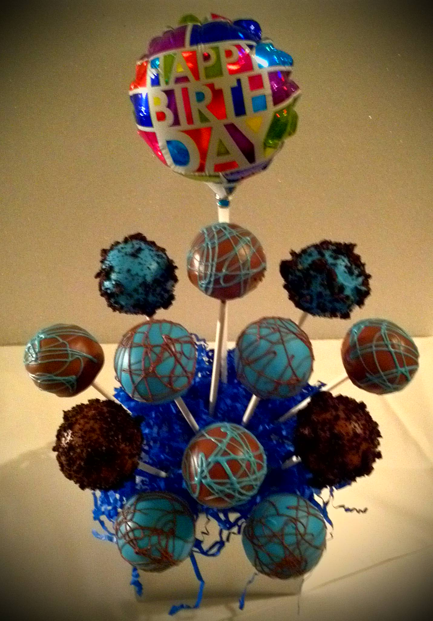 Cake Pops Birthday Arrangement
