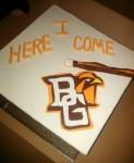 BGSU Grad Cap Cake