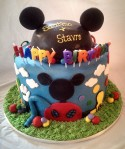 Mickey Mouse Clubhouse 2-Tier Cake