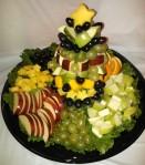 Christmas Tree Fruit Arrangement and Platter