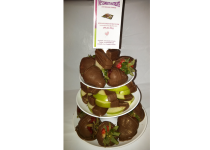3 Tier Chocolate Dipped Fruit