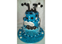 """3 Tier """"Fault-In-Our-Stars"""" Cake"""