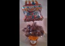 Cake Pops in a Copper Bucket