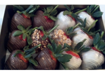 Chocolate Dipped Strawberries with Peanuts