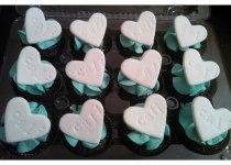 Fondant Heart Cupcakes