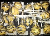 GO MICHIGAN Maize & Blue Cake Pops