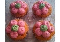 Jumbo Size Flower Cupcakes