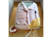 White Coat & Scrubs Dental Cake
