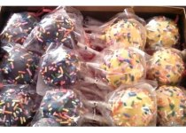Yellow & Black Cake Pops with Sprinkles