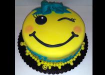 Emoji Winking Cake