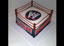Wrestling Rink Cake